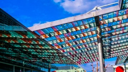 Reflection of Glass Ceiling