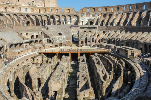 Colosseum Rome Italy inside the arena
