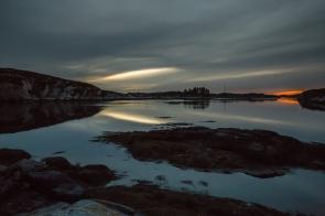 Sunset in Øygarden Norway