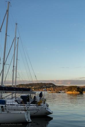Solnedgang utsikt mot Askøy