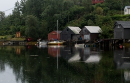 Reflections of Boat Houses