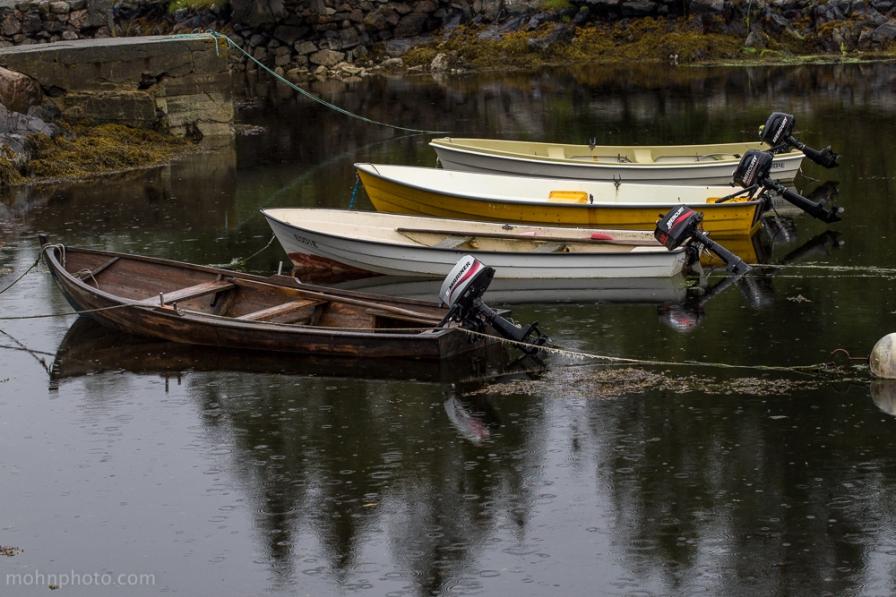 Nærbilde av båter på Foldnes
