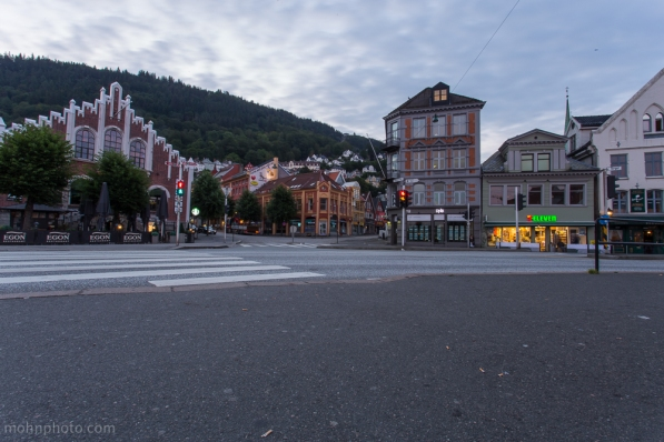 Photo of Bergen taken from fisketorget