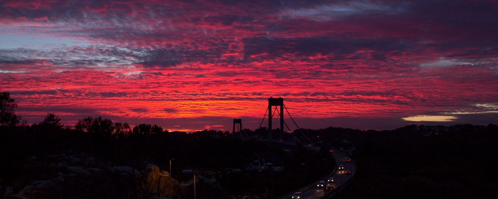 Todays Sunset Sotra Norway