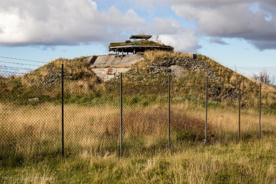 Bunkers på en topp