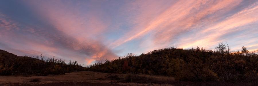 Sunset over ustaoset