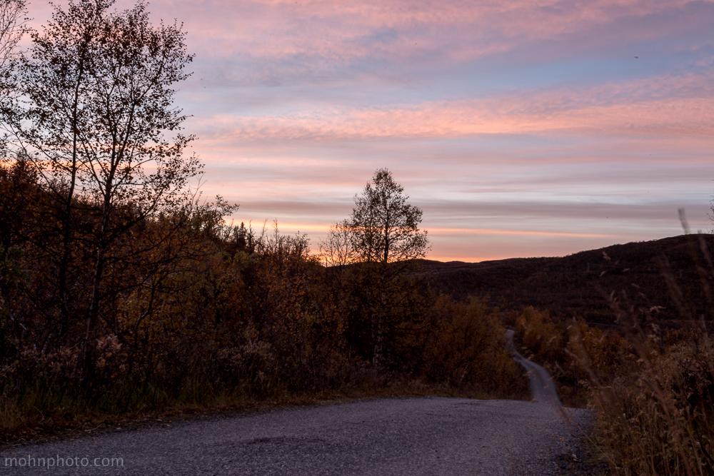 Solnedgang på Ustaoset / Geilo
